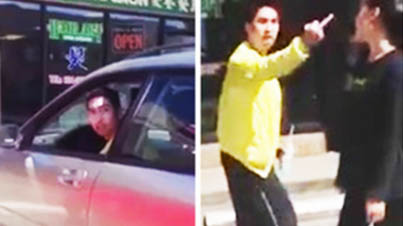 Dude Freaks The F*ck Out When Girls Confront Him About Leaving Dog Inside Car