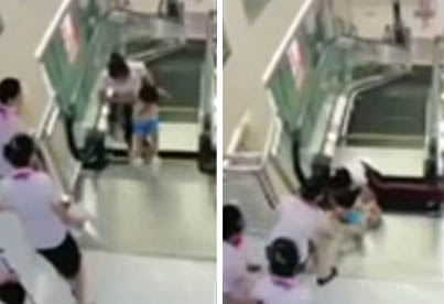 Mother Dies Heroically Saving Her Young Son In Escalator Collapse At Chinese Department Store