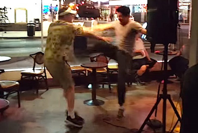 Comedian Kicks 60-Year-Old Heckler In The Stomach