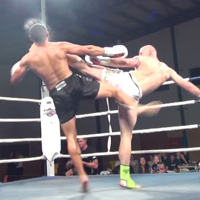 Dejan Ross Knocks Out His Opponent With A Brutal Roundhouse Kick