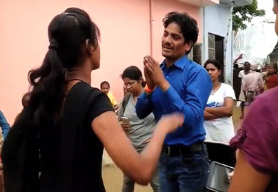 Meanwhile In India: Girl Tracks Down Her Molester And Beats The Sh*t Out Of Him In Public