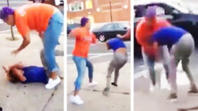 """Mother Beats Her Daughter In Public For """"Sucking D*ck"""""""