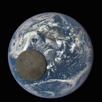NASA Releases EPIC View of Moon Transiting The Earth
