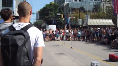 You Should've Used A Condom: Street Performer Puts Parents In Their Place