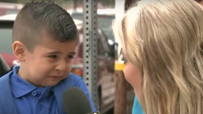 TV Reporter Makes Kid Cry On First Day Of School