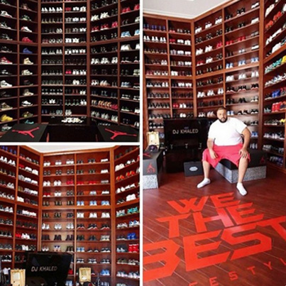 DJ Khaled Shows Off His Sneaker Closet