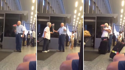 Old Man Waiting For His Wife At The Airport Will Melt Your Heart