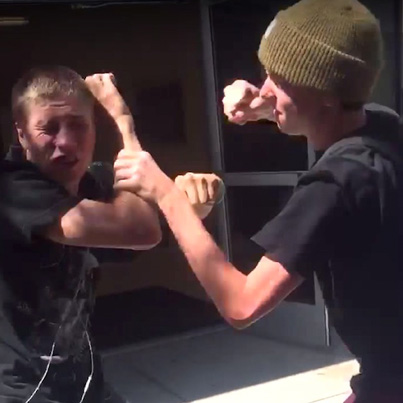 School Bully Gets Rekt After Trying To Bash A Blind Kid