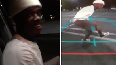Dude Films Music Video Through Backup Cam While Ghost Riding The Whip