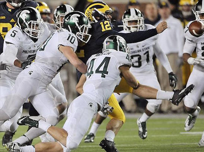 Michigan State Spartans Stun The Michigan Wolverines With Final-Play Fumble Return
