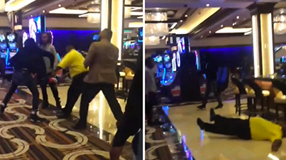 Casino Security Guard Gets Knocked The F*ck Out With One Punch