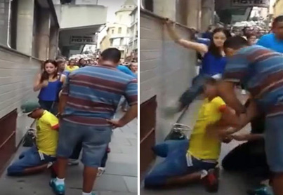 Thief Gets Swift Kick To The Face From Alleged Victim