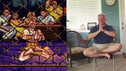 Awesome Dad Recreates Street Fighter II Winning Poses