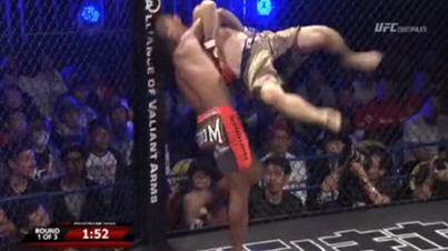 "Behold, The First ""Rock Bottom"" Knockout In MMA History"