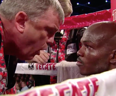 Boxing Trainer Teddy Atlas Fires Up Timothy Bradley With Motivational Corner Speech