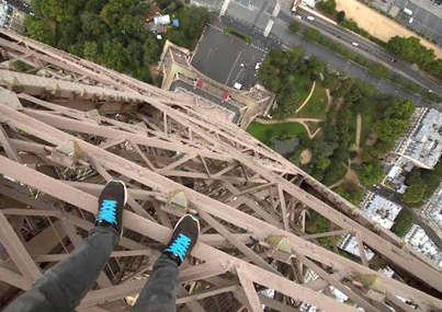 Daredevil James Kingston Climbs The Eiffel Tower Without A Safety Harness