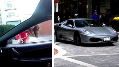 Dude In A Ferrari Tries To Get A Girl's Phone Number