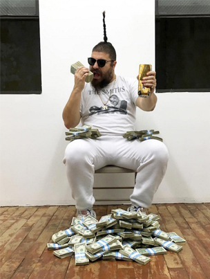 "Josh ""The Fat Jew"" Ostrovsky And His Upright Ponytail Gives Away $10,000"