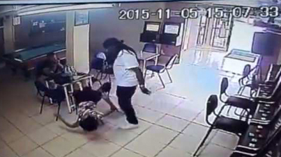 Man Catches His Baby's Mama On A Date And Brutally Beats Her