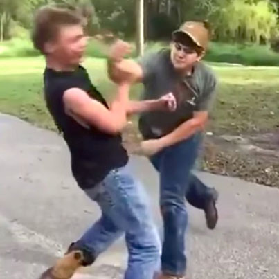 Redneck In Cowboy Boots Gets KO'D Into Another F*cken Dimension