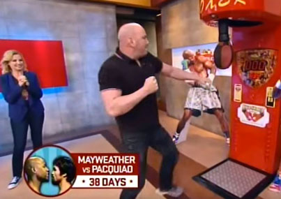 UFC President Dana White Fails Miserably At Throwing A Punch On Sports Nation
