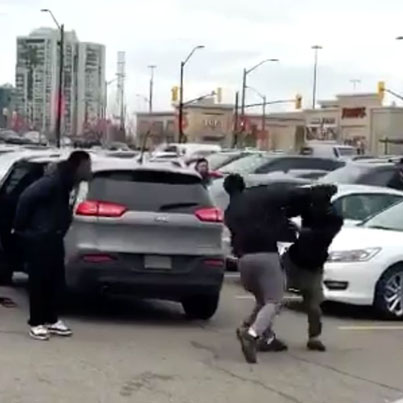 2 Guys Brawl Over A Parking Spot At Square One Shopping Mall