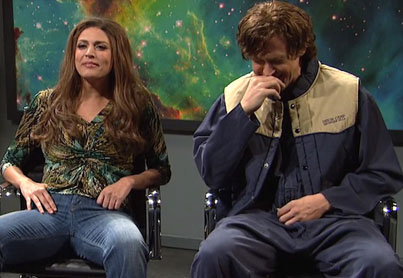 Giggling Ryan Gosling Loses His Sh#t In A SNL Alien Abduction Sketch