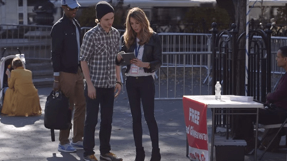 Hot Girl Pranks Idiots By Having Them Sign 'Terms And Conditions'