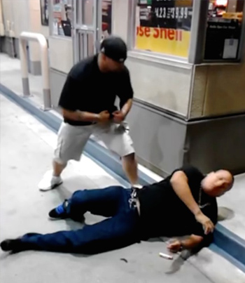Gas Station Bully Gets Into A Fight