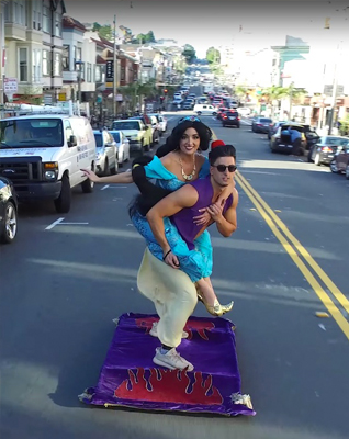 Aladdin Hits The Streets Of San Francisco With Jasmine