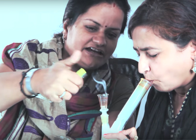 Indian Aunties Smoke Marijuana For The First Time