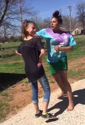 Racist Young Girl Gets Her Jaw Cracked
