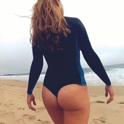 Surfer Girls Wear Nothing But Body Paint As Their Wetsuits