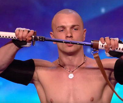 "Crazy Sword Swallower Freaks Out ""Britains Got Talent"" Judges"