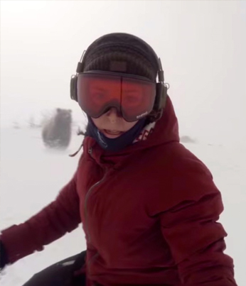 Snowboarder Chick Films Herself Getting Chased By A Bear