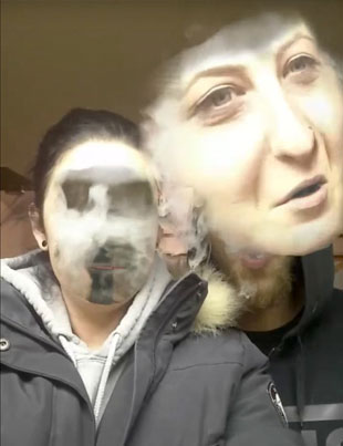 Vaping While Face-Swapping On Snapchat