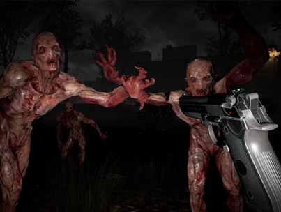 Woman Freaks Out Playing Virtual Reality Zombie Game