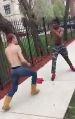Gay Dude Gives A Hood Dude A Beating For Calling Him A F*g