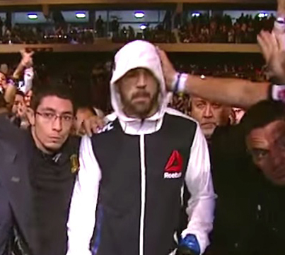 UFC Fighter Matt Brown Hit 3 Times By Brazilian Fans During Entrance
