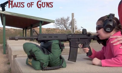 7-Year-Old Girl Shoots An AR-15 Gun For The First Time