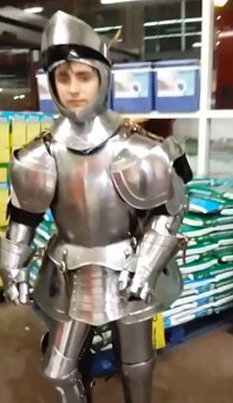 Dude Spends A Day In A Full Armor Suit