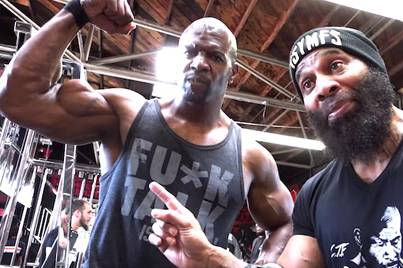 Terry Crews Joins C.T. Fletcher For A Massive Lifting Session