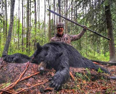 American Hunter's Black Bear Kill With Spear Sparks Outrage