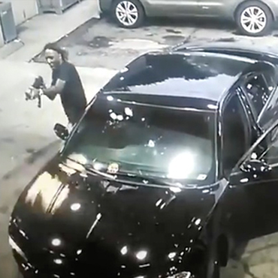 Wild AK47 Gun Fight Caught On Gas Station Security Camera 😈