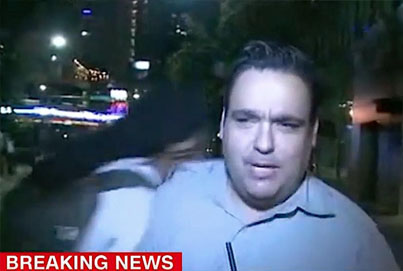 CNN Reporter Knocked To The Ground By Protester
