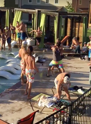 Crazy Brawl Breaks Out At A Pool Party 💀