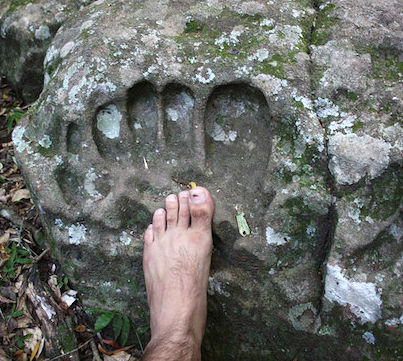 Giant Fossilized Human Foot Print Found In South Africa 😱
