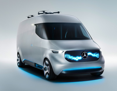Mercedes' Vision Van Concept Launches Delivery Drones