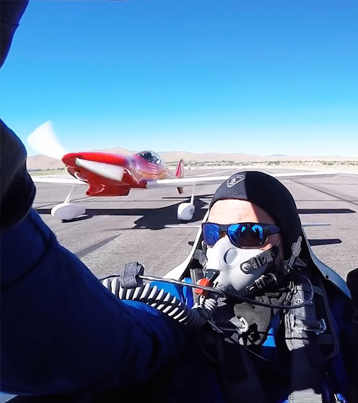Stunt Pilot Nearly Gets His Head Taken Off
