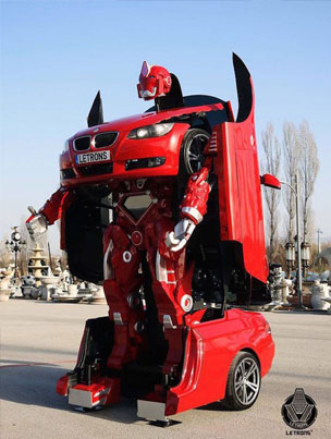 This BMW Is A Real-Life Transformer